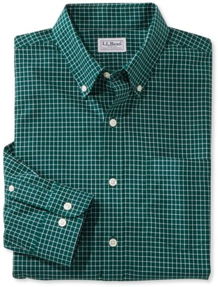 L.L. Bean L.L.Bean Men's Wrinkle-Free Check Shirt, Slightly Fitted