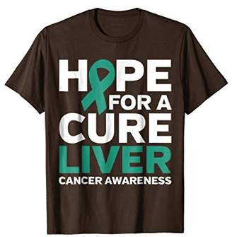 Faith and Hope for a Cure Liver Cancer Awareness T-Shirt