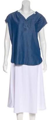 S.O.H.O New York Chambray Short-Sleeve Blouse