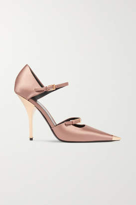 90421a6a025 Tom Ford Satin Mary Jane Pumps - Neutral