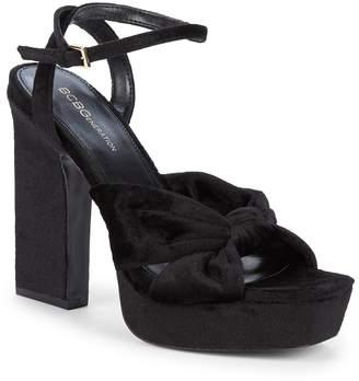 BCBGeneration Chiara Velvet Twist Platform Sandals