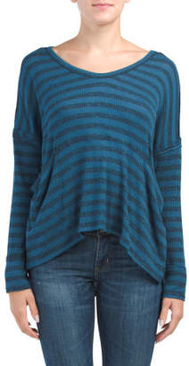 Stripe Dolman Sleeve Top