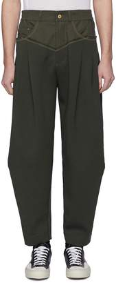 Feng Chen Wang Twill waist panel jogging pants