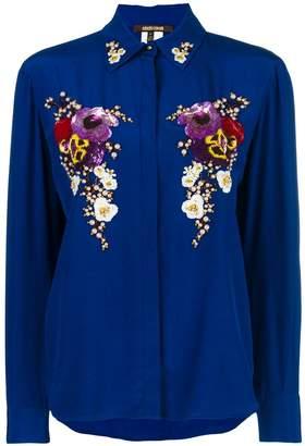 Roberto Cavalli pearl embellished shirt