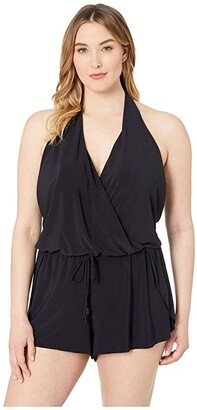 Magicsuit Plus Size Solid Bianca Romper One-Piece