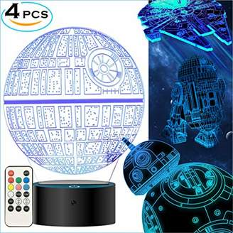 Star Wars MOSSOM Gifts 3D Lamp Toys Night Light for Kids Room Decor