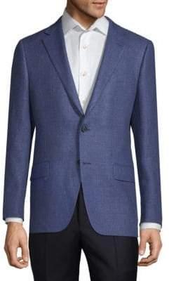 Hickey Freeman Milburn II Wool and Linen Sports Jacket