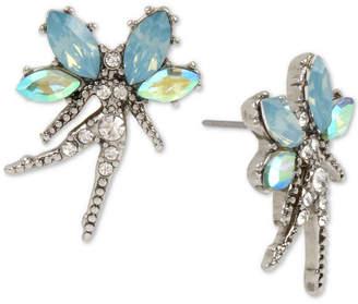Betsey Johnson Silver-Tone Crystal Fairy Stud Earrings