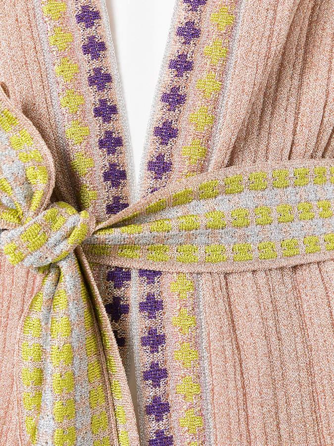 Missoni sleeveless tie waist cardigan