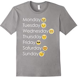 Funny Emoji 7 Weekdays Mood T-shirt Gift For Emoticon Lovers