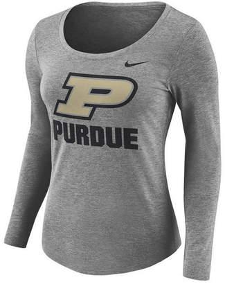 Nike Purdue Women's Boilermakers Tri Blend Logo T-Shirt