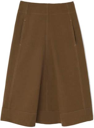 Lemaire Flared Khaki Skirt