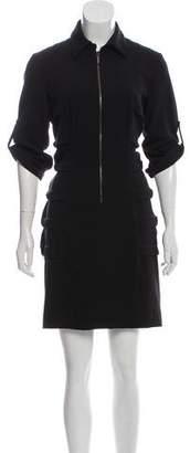 Nicole Miller Overlay-Paneled Mini Dress