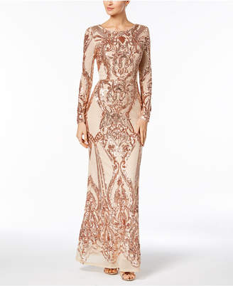Betsy & Adam Sequined Gown