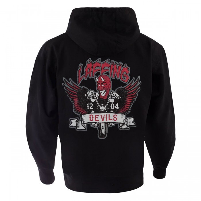 Discovery The Devils Ride Laffing Devils Wings Zip Hoodie