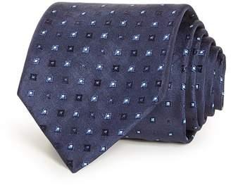 HUGO Micro Squares Silk Skinny Tie