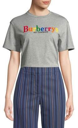 Burberry Clumber Logo Graphic Tee