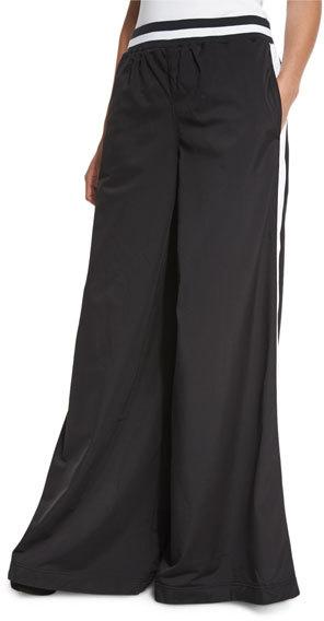 FENTY® PUMA® by Rihanna Kimono Tricot Track Pants, Black/White