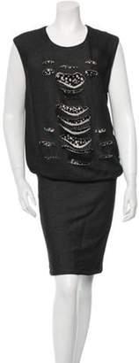 Jay Ahr Embellished Dress w/ Tags Grey Embellished Dress w/ Tags