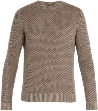 Iris von Arnim Magellan waffle-knit cashmere sweater