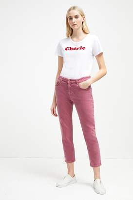 French Connenction Antique Dye Relaxed Tapered Jeans