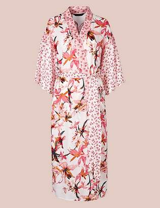 Marks and Spencer Pure Modal Floral Wrap Dressing Gown