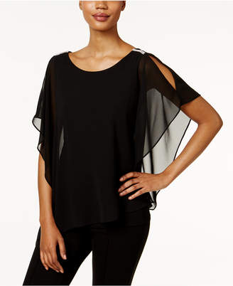 Msk Cold-Shoulder Batwing Blouse $59 thestylecure.com