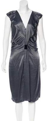 Prada Satin Midi Dress