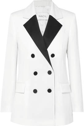 Racil - Hatanaka Double-breasted Wool-piqué Blazer - White