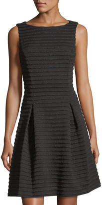 Taylor Jacquard-Knit Striped Fit-&-Flare Silhouette