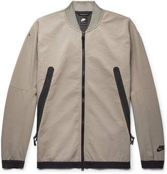 Nike Sportswear Tech Crinkled-Jersey Bomber Jacket