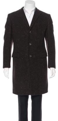 Dolce & Gabbana Wool Herringbone Overcoat