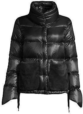 Herno Women's Faux Fur Pocket Puffer Jacket