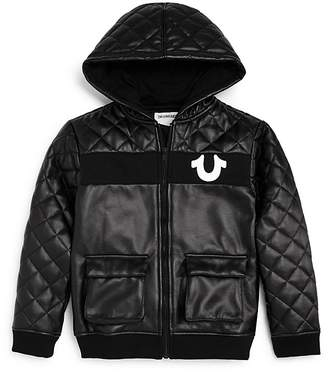 True Religion Boys' Quilted Faux-Leather Jacket - Little Kid