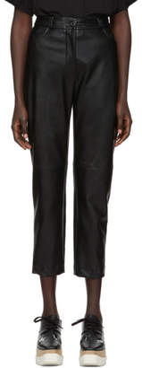 Stella McCartney Black Alter Faux-Leather Trousers