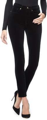 Good American Good Legs Velvet High Waist Ankle Skinny Jeans