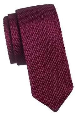The Tie Bar Textured Silk Slim Tie