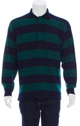 Etro Striped Cashmere Polo Sweater