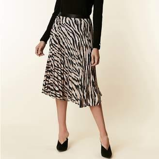 Animal Print Pleated Skirt Shopstyle Uk