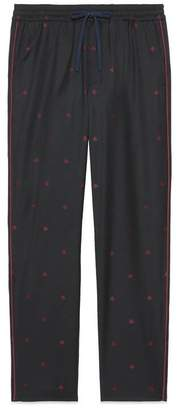 Gucci Bees wool gabardine trousers
