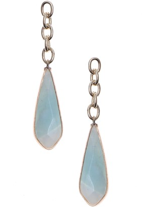 Nakamol Design Amazonite Chain Drop Earrings