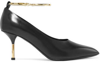 Jil Sander Embellished Leather Pumps - Black