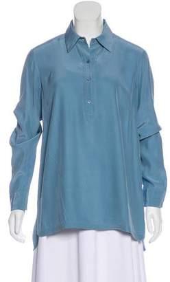 Lafayette 148 Long Sleeve Silk Tunic