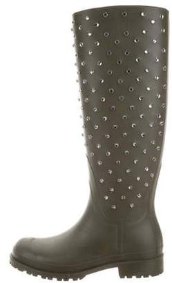 Saint Laurent Rubber Embellished Rainboots