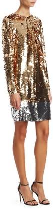 N°21 N° 21 Long Sleeve Sequin Mini Dress