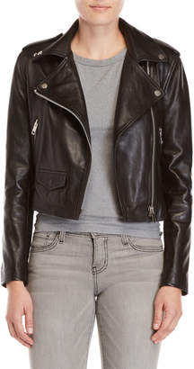 Walter Baker Red Leather Moto Jacket