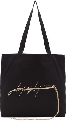 Yohji Yamamoto Black Stitch Logo Tote $330 thestylecure.com