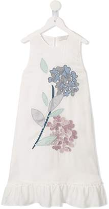 Stella McCartney floral-appliquéd dress