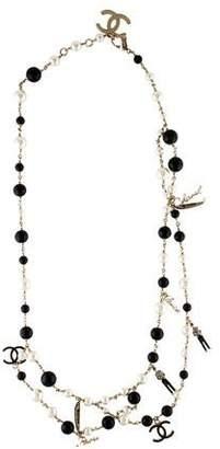 Chanel Paris-Venice Faux Pearl Charm Necklace