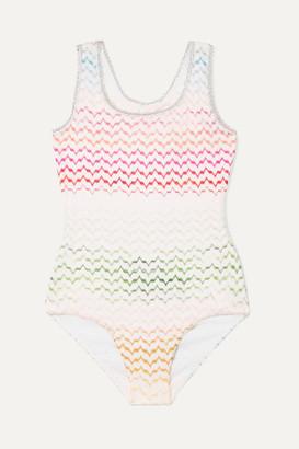 Missoni Kids - Crochet-knit Swimsuit - Pink